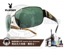 PLAYBOY-時尚太陽眼鏡金屬LOGO款