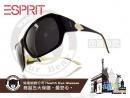 ESPRIT-時尚太陽眼鏡金色葉形特色款