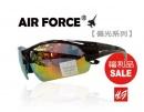 【福利品促銷】AIR FORCE偏光運動款太陽眼鏡紅水銀-【編號:SF27】